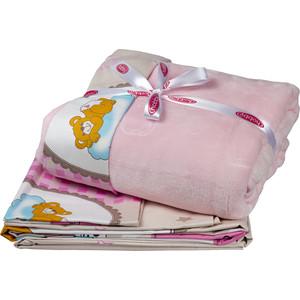 цена Комплект детского постельного белья Hobby home collection поплин с покрывалом BAMBAM, розовый, 100% Хлопок, Покрывало - 100% Полиэстер онлайн в 2017 году