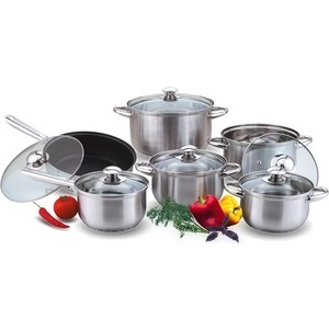 Набор посуды 12 предметов Kelli (KL-4101) набор кухонных принадлежностей 5 предметов kelli kl 2114
