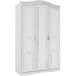 Шкаф трехдверный Комфорт - S Гертруда М2 белая лиственница/ясень жемчужный