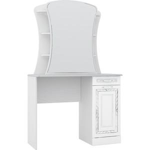 Стол туалетный Комфорт - S Гертруда М6 белая лиственница/ясень жемчужный