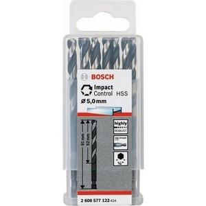 Сверло по металлу Bosch 10шт Impact Control с шестигранным хвостовиком 5 мм (2.608.577.122) цена
