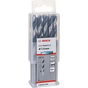 все цены на Сверло по металлу Bosch 10шт HSS PointTeQ 7,5 мм (2.608.577.243) онлайн