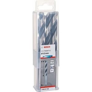 Сверло по металлу Bosch 5шт HSS PointTeQ 12 мм (2.608.577.288) сверло по металлу вихрь 10 мм hss 5шт в блистере