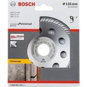 Чашка алмазная Bosch Standard, Universal 125 мм (2.608.601.574) чашка алмазная зачистная sparta turbo 729955 125 мм