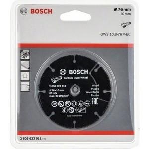 Диск пильный Bosch по дереву 76 мм для GWS 10.8 твердосплавный (2.608.623.011) круг пильный твердосплавный stayer master 3680 250 30 24 fast line по дереву 250х30мм 24t