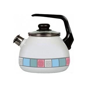 Чайник эмалированный со свистком 3.0 л Appetite Пастель 4с209я