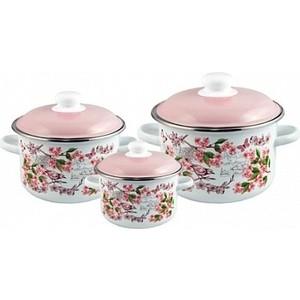 Набор эмалированной посуды 3 предмета Appetite №19 Bird 6KB191M