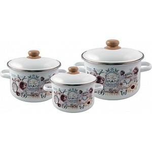Набор эмалированной посуды 3 предмета Appetite №19 Roses 1KB191M