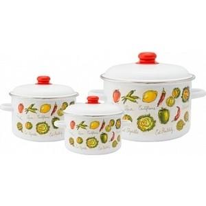 Набор эмалированной посуды 3 предмета Appetite №19 Гратен 1KB191M кастрюля appetite гратен 4 л