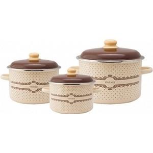 Набор эмалированной посуды 3 предмета Appetite №19 Vintage 6KB191M