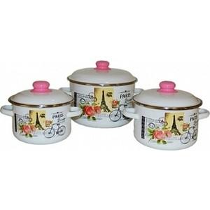 Набор эмалированной посуды 3 предмета Appetite №19 Париж 1KB191M