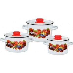 Набор эмалированной посуды 3 предмета СтальЭмаль Варенье 1с144