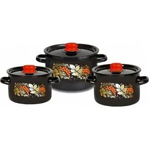 Набор эмалированной посуды 3 предмета СтальЭмаль Рябина 1с112