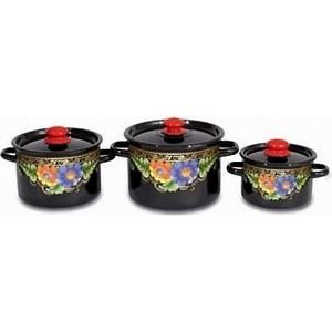 Набор эмалированной посуды 3 предмета СтальЭмаль Вологда 1с144