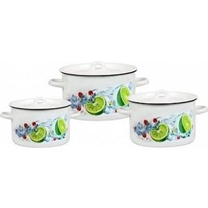 Набор эмалированной посуды 3 предмета СтальЭмаль Мохито 1с33