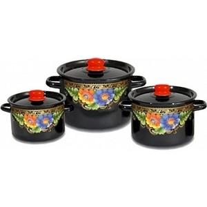 Набор эмалированной посуды 3 предмета СтальЭмаль Вологда 1с112 авиабилеты москва вологда