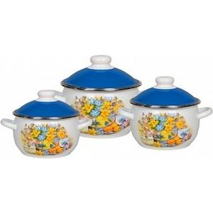 Набор эмалированной посуды 3 предмета СтальЭмаль №02 Летний вечер 6КН021М