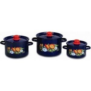 Набор эмалированной посуды 3 предмета СтальЭмаль Русское поле 1с144