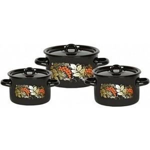 цены Набор эмалированной посуды 3 предмета СтальЭмаль Рябина 1с33