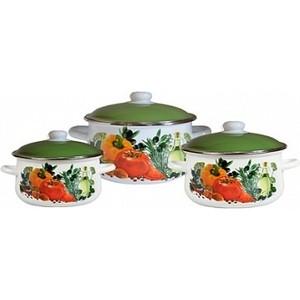 Набор эмалированной посуды 3 предмета СтальЭмаль Европейская кухня 1с408