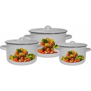 Набор эмалированной посуды 3 предмета СтальЭмаль Сентябрь 1с112