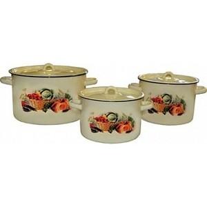 Набор эмалированной посуды 3 предмета СтальЭмаль Урожай 1с112