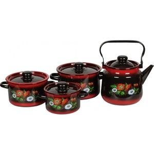 Набор эмалированной посуды СтальЭмаль Кармен 1с142