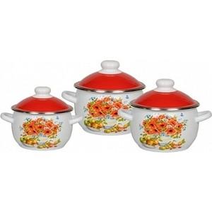 Набор эмалированной посуды 3 предмета СтальЭмаль №02 Натюрморт 6КН021М