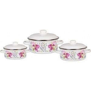 Набор эмалированной посуды 3 предмета СтальЭмаль №05 Мозаика 1KB051M