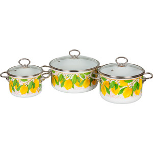 Набор эмалированной посуды 3 предмета Vitross №03 Limon 1DB035S