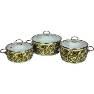 Набор эмалированной посуды 3 предмета Vitross №14 Imperio салатовый 8DA145S