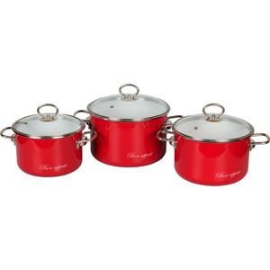Набор эмалированной посуды 3 предмета Vitross №16 Bon appetite вишня 8DB165S