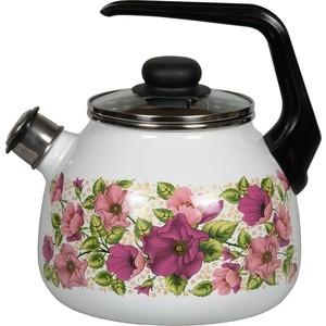 Чайник эмалированный со свистком 3.0 л Vitross Violeta белый 1RC12 рубашка violeta by mango violeta by mango vi005ewftau5