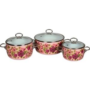 Набор эмалированной посуды 3 предмета Vitross №03 Violeta розовый 8DA035S рубашка violeta by mango violeta by mango vi005ewftau5