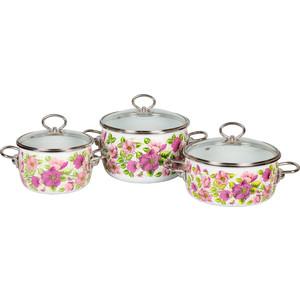 Набор эмалированной посуды 3 предмета Vitross №13 Violeta белый 1DA135S