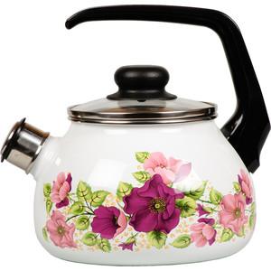 Чайник эмалированный со свистком 2.0 л Vitross Violeta белый 1RA12