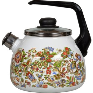 Чайник эмалированный со свистком 3.0 л Vitross Imperio белый 1RC12