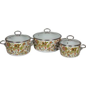 Набор эмалированной посуды 3 предмета Vitross №03 Imperio белый 1DA035S