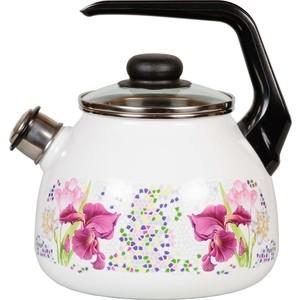 Чайник эмалированный со свистком 3.0 л СтальЭмаль Мозайка 4с209я фото
