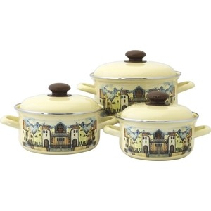 Набор эмалированной посуды 3 предмета Лысьвенские эмали Старый город 124АП2/4