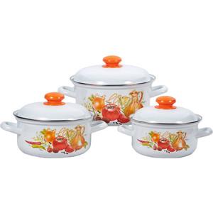 Набор эмалированной посуды 3 предмета Лысьвенские эмали Итальянская кухня 124АП2/4