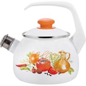 Чайник эмалированный 2.5 л Лысьвенские эмали Итальянская кухня 2711АП/4