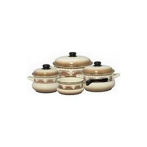 цена на Набор эмалированной посуды 7 предметов Metrot Терракот (083183)