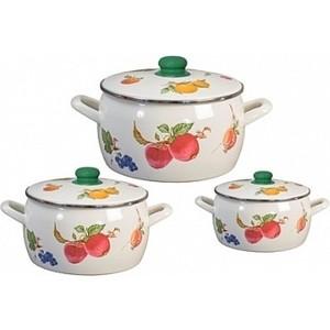 Набор эмалированной посуды 6 предметов Metrot Фрукты (130444)