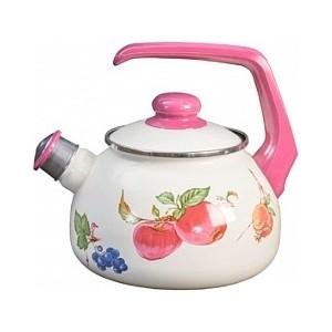 Чайник эмалированный 2.5 л Metrot Фрукты (130441)