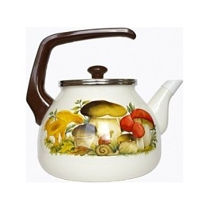 Чайник эмалированный 3.0 л Interos Грибы 3.0л 15251