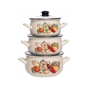 Набор эмалированной посуды 3 предмета Interos Аппетит 15157