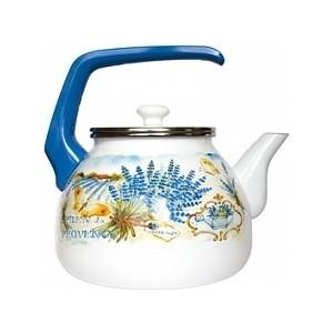 Чайник эмалированный 3.0 л Interos Лаванда 3.0л 15248 кастрюля эмалированная 3 1 л interos лаванда 3 1л 15248
