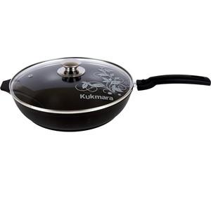 Сковорода d 26 см со съемной ручкой и крышкой Kukmara Традиция (с266а) сковорода d 26 см со съемной ручкой moulinvilla титан tm 26 i dh