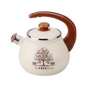 Чайник эмалированный со свистком 2.5 л Idilia Дерево счастья (I2711tree) дензигер л бирндорф к 9 комнат счастья